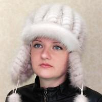 Шапка-ушанка Нежная