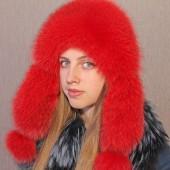 Шапка-ушанка Рубин (красный)
