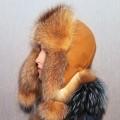 Шапка-ушанка Золотой мед