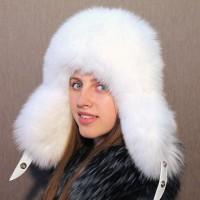 Шапка-ушанка Элиза (белый)