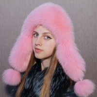 Ушанка Беатриче (розовый)