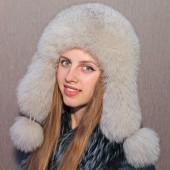 Шапка-ушанка Снежинка